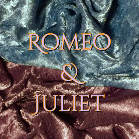 LIMITED EDITION! Custom Order Duo - Romeo & Juliet - Featuring Heart and Flower Top Snaps! - Luxury Crushed Velvet