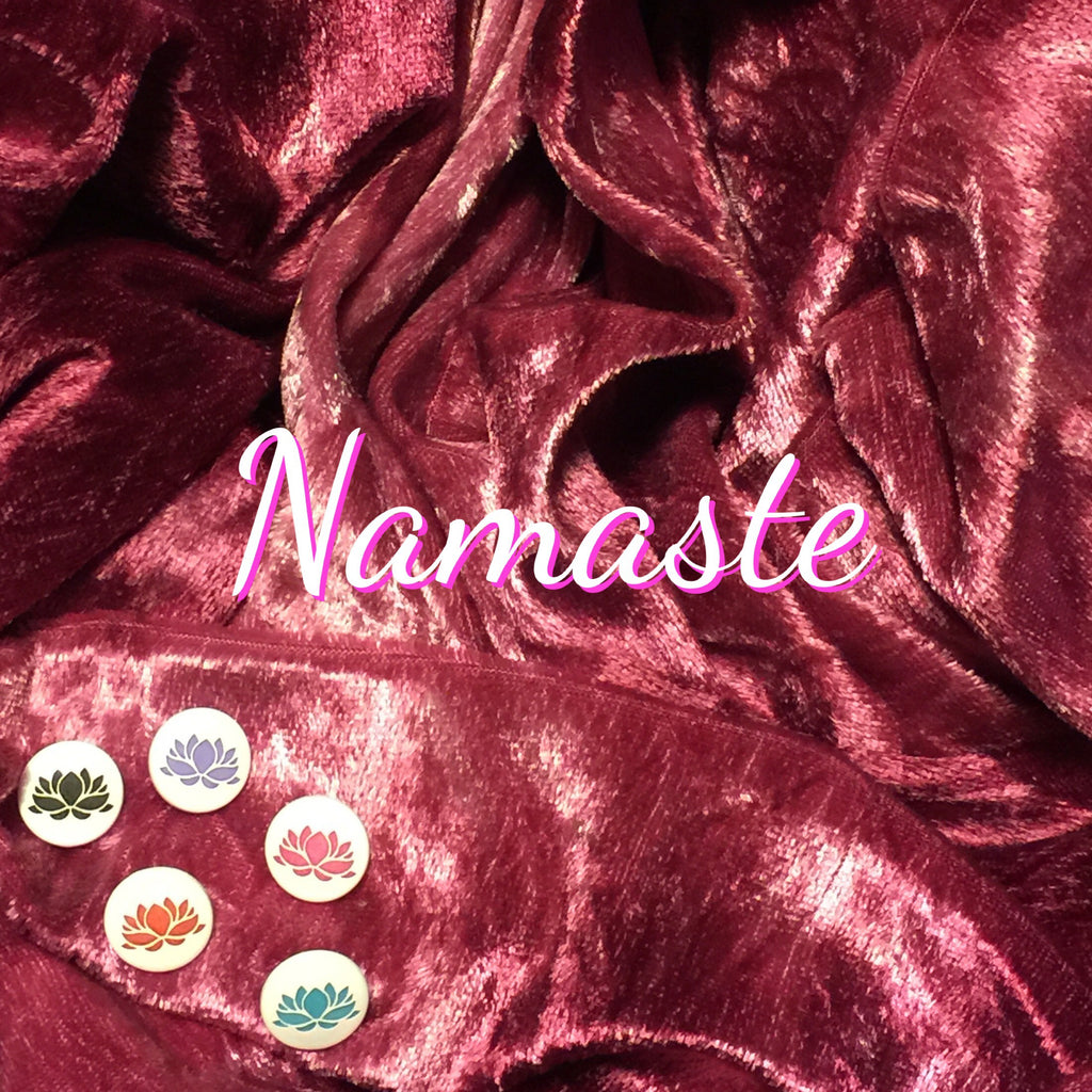 LIMITED EDITION! Namaste - Featuring Engraved Lotus Top Snap! - Luxury Crushed Velvet