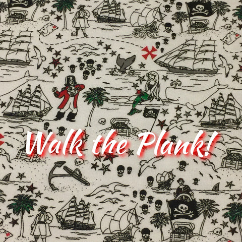 LIMITED EDITION! Walk the Plank! - Featuring Engraved Skull Top Snap! - Organic Bamboo French Terry
