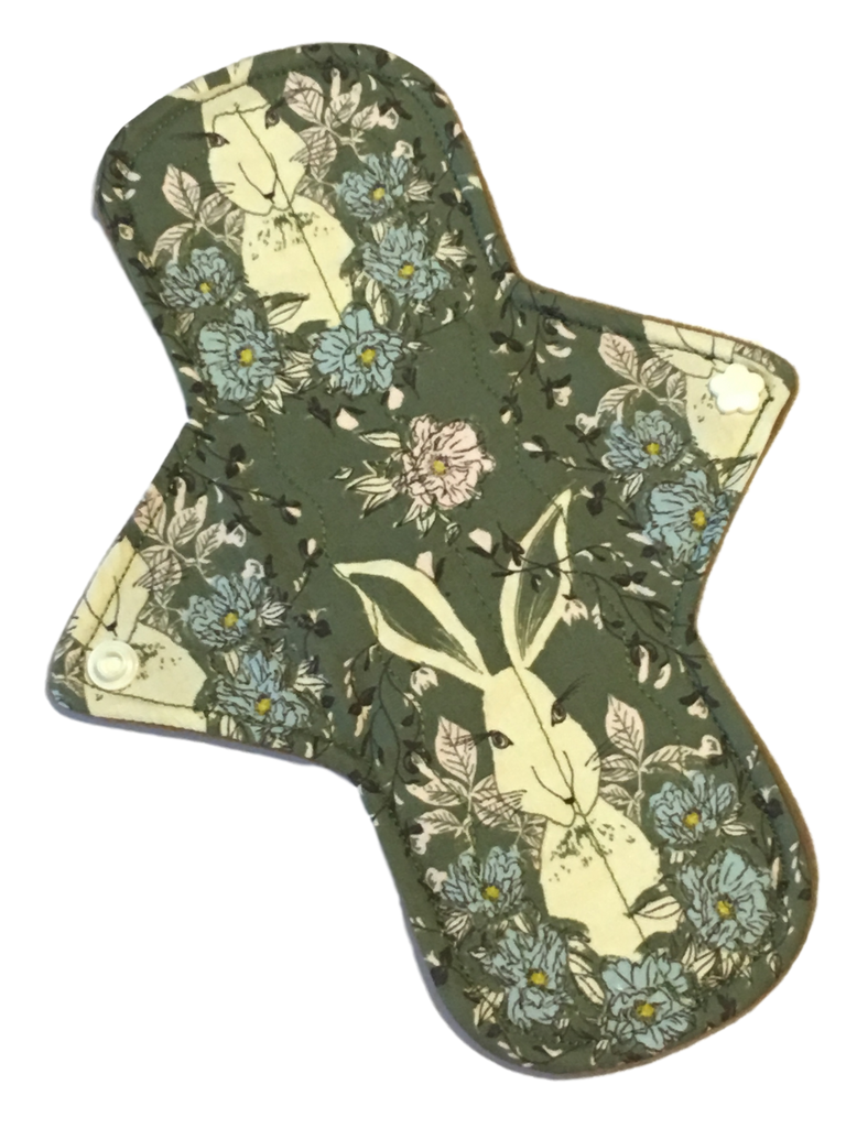 9 Inch Cotton Topped Light Pad in Rabbit Patch Featuring Ivory Flower Snaps!