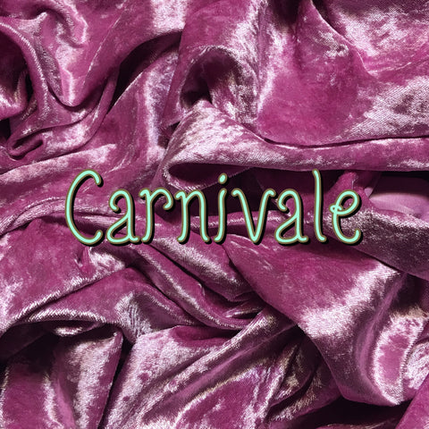 Custom Order - Luxury Crushed Velvet - Carnivale