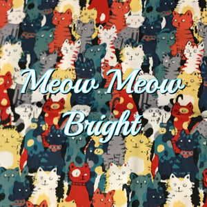 Meow Meow Bright - Quilter's Cotton