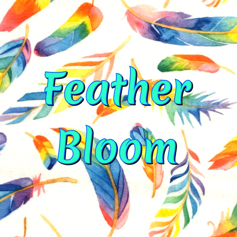 Custom Order - Feather Bloom - Specialty Minky Print