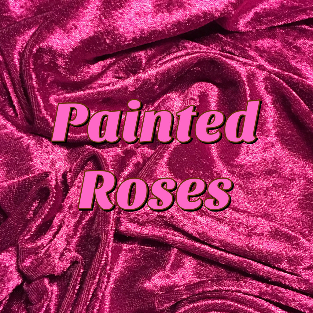 Painted Roses - Luxury Crushed Velvet