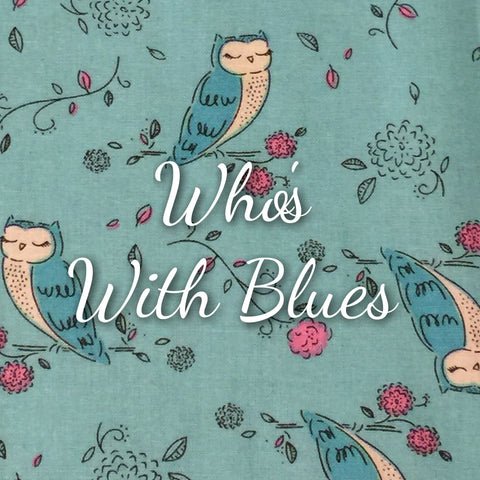 Who's with Blues - Quilter's Cotton