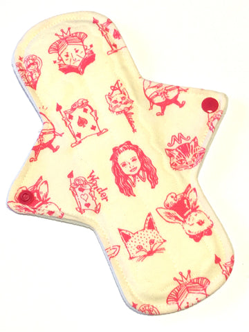 9 Inch Heavy Absorbency Cotton Twill Topped Pad in We're All Mad Here!