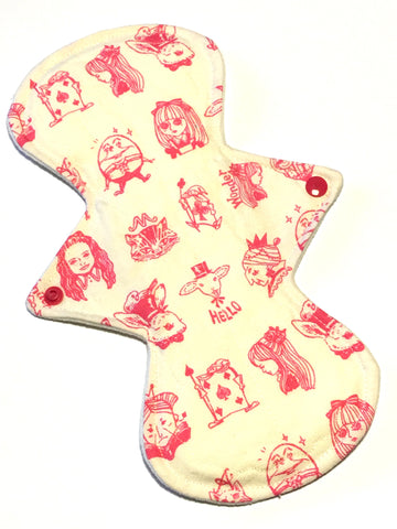 11 Inch Curve Heavy Cotton Twill Topped Pad in We're All Mad Here!