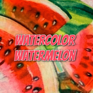 Watercolor Watermelon - Performance Piquè