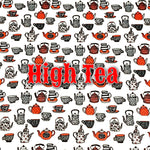 Limited Edition! High Tea - Performance Piqué - Featuring Red Heart Top Snap!