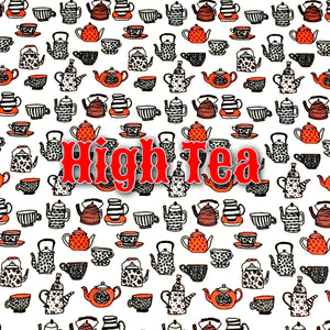 Limited Edition! High Tea - Performance Piquè - Featuring Red Heart Top Snap!