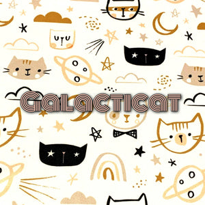 Limited Edition! Galacticat - Performance Piquè - Featuring Ivory Windpro & Metallic Gold Snaps!