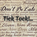 Tick Tock! - Quilter's Cotton