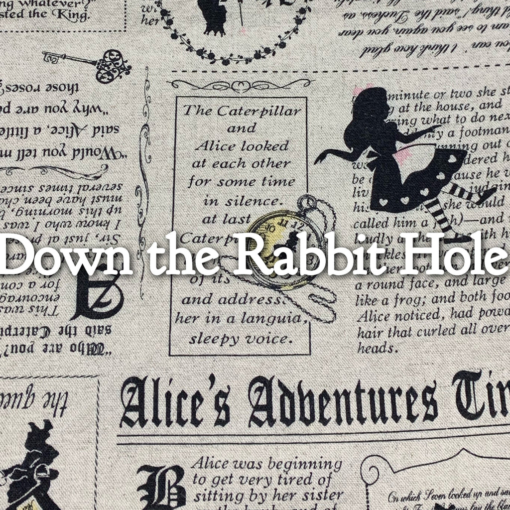 Down the Rabbit Hole - Cotton Linen