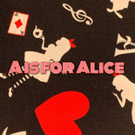 Limited Edition! A is for Alice - Cotton Twill Featuring Black Windpro & Black Heart Top Snap!