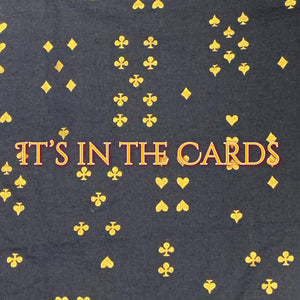 It's in the Cards - Quilter's Cotton With Metallic Accents Featuring Gold Snaps