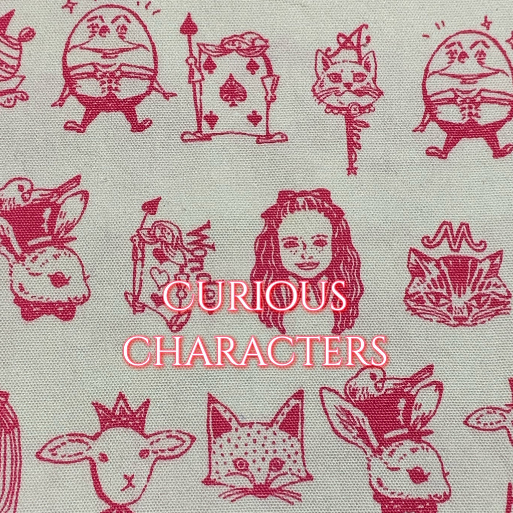 Limited Edition! Curious Characters - Cotton Twill Featuring Ivory Windpro & Pink Heart Top Snap!