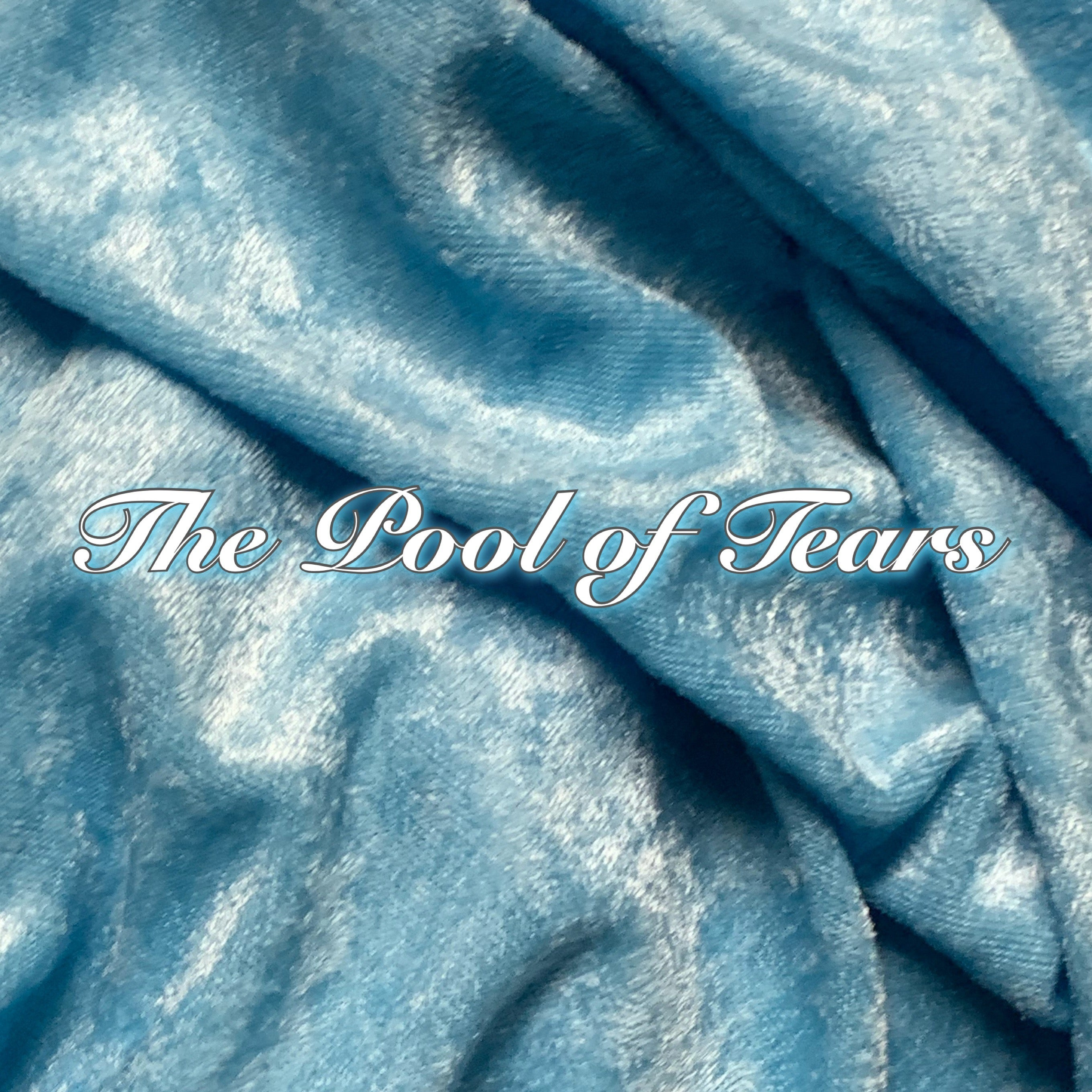 Limited Edition! The Pool of Tears - Luxury Crushed Velvet Featuring Teal Windpro & White Heart Top Snap!