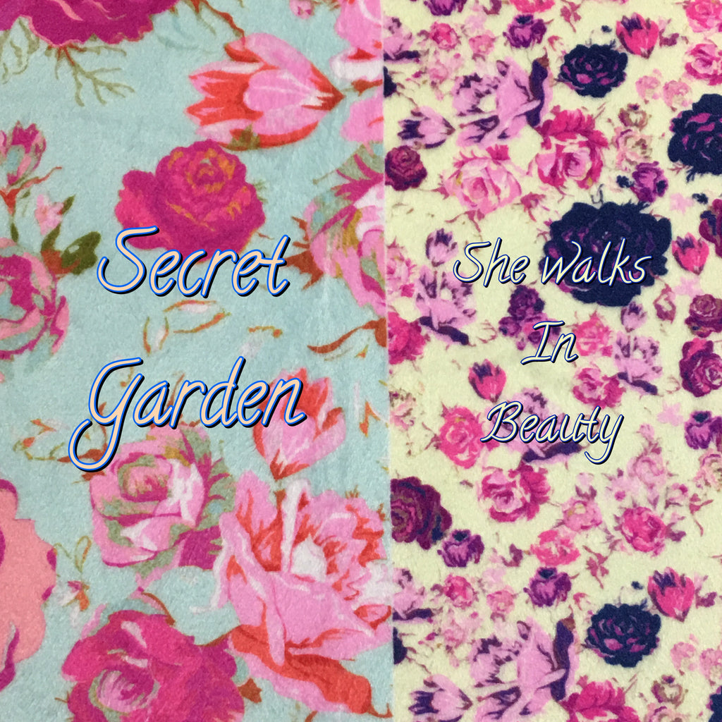 *Brand New Limited Edition Duo!* Custom Order - Garden Beauty Specialty Minky Print Duo - Secret Garden & She Walks in Beauty