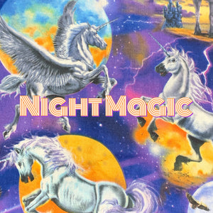 Night Magic *Limited Edition! - Quilter's Cotton - Featuring Ivory Back & Glow in the Dark Snaps!