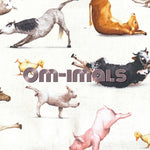 Om-imals *Limited Edition! - Quilter's Cotton - Featuring Ivory Windpro Back & Engraved Lotus Top Snap!