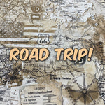 Road Trip! *Limited Edition! - Quilter's Cotton - Featuring Ivory Back & Golden Snaps!