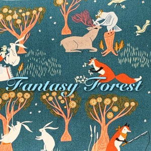 Fantasy Forest *Limited Edition! - Quilter's Cotton - Featuring Ivory Back & Ivory Flower Top Snap!