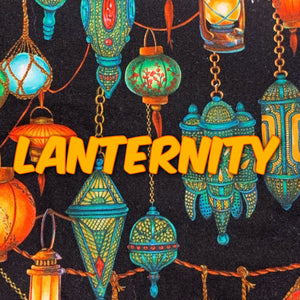 Lanternity *Limited Edition! - Quilter's Cotton - Featuring Teal Windpro Back & Glow in the Dark Snaps!
