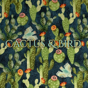 Cactus & Bird - Quilter's Cotton