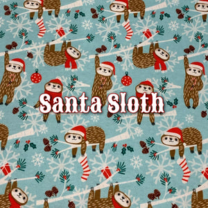 Santa Sloth - Cotton Knit