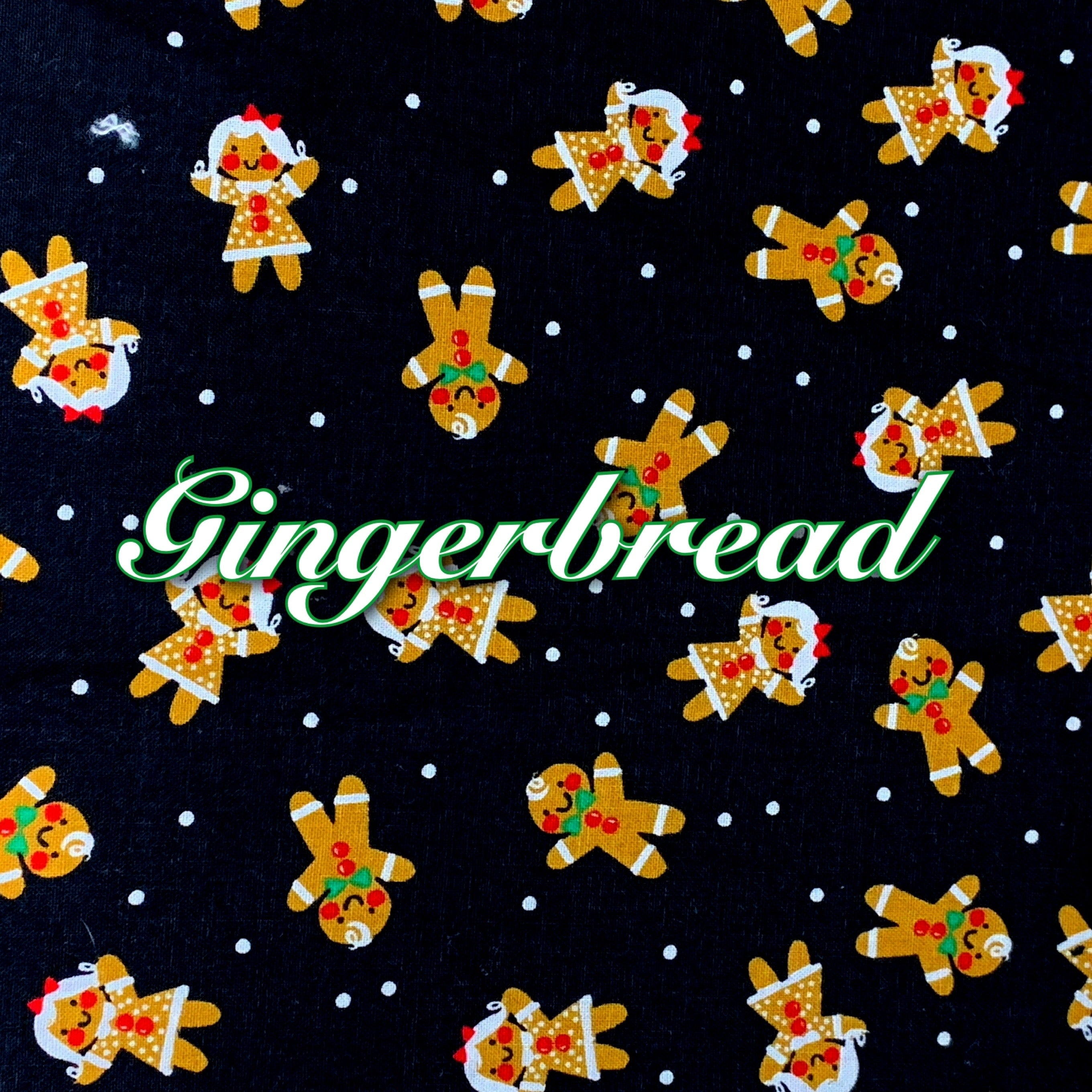Limited Edition! Gingerbread - Quilter's Cotton Featuring Ivory Back and Heart Top Snap!