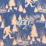 Limited Edition! Yeti - Specialty Minky Print Featuring Ivory Back and Heart top Snap!