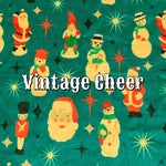 Limited Edition! Vintage Cheer - Specialty Minky Print Featuring Teal Windpro Back and Red Heart top Snap!