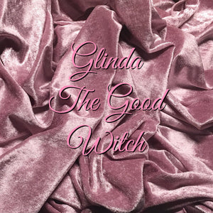LIMITED EDITION Glinda the Good Witch! - Featuring a White Butterfly Top Snap and Ivory Windpro Fleece Back! - Luxury Crushed Velvet