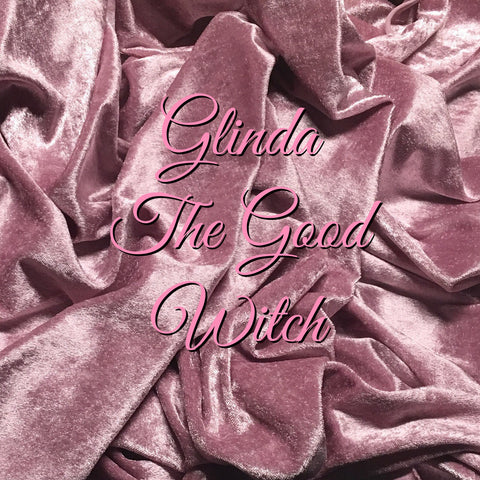 LIMITED EDITION RESTOCK! Custom Order - Luxury Crushed Velvet - Glinda the Good Witch! - Featuring a White Butterfly Top Snap and Ivory Windpro Fleece Back!