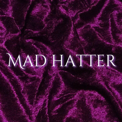 Now Available for Custom Order! - Luxury Crushed Velvet - Mad Hatter