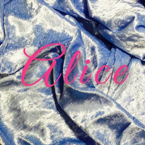 Custom Order - Luxury Crushed Velvet - Alice