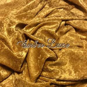 Ember Luxe - LIMITED EDITION! - Featuring Metallic Golden Snaps and Ivory Windpro Fleece Back! - Luxury Crushed Velvet