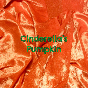 Cinderella's Pumpkin - LIMITED EDITION! - Featuring Green Snaps and Brown Windpro Fleece Back! - Luxury Crushed Velvet