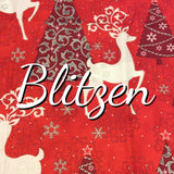 Blitzen - Featuring Metallic Silver Accents -  Quilter's Cotton