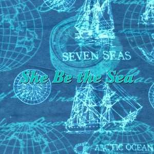 She Be the Sea - Cotton Flannel