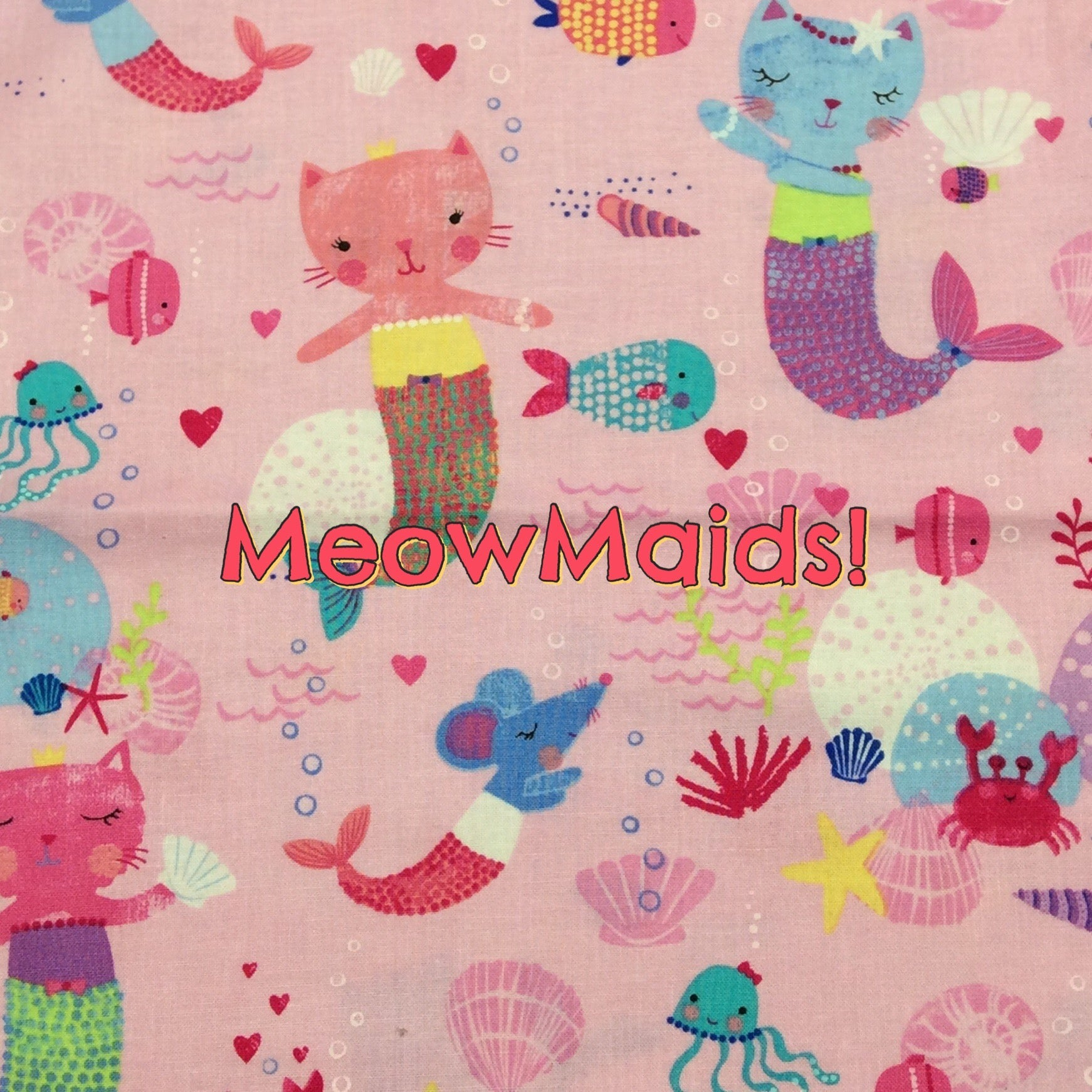 Meowmaids! - Quilter's Cotton