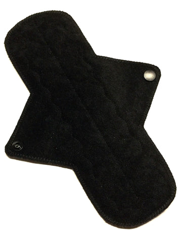 9 Inch Ultra Thin Suedecloth Waterproof NINJA Pad (moderate-heavy) Absorbency in NINJA Black