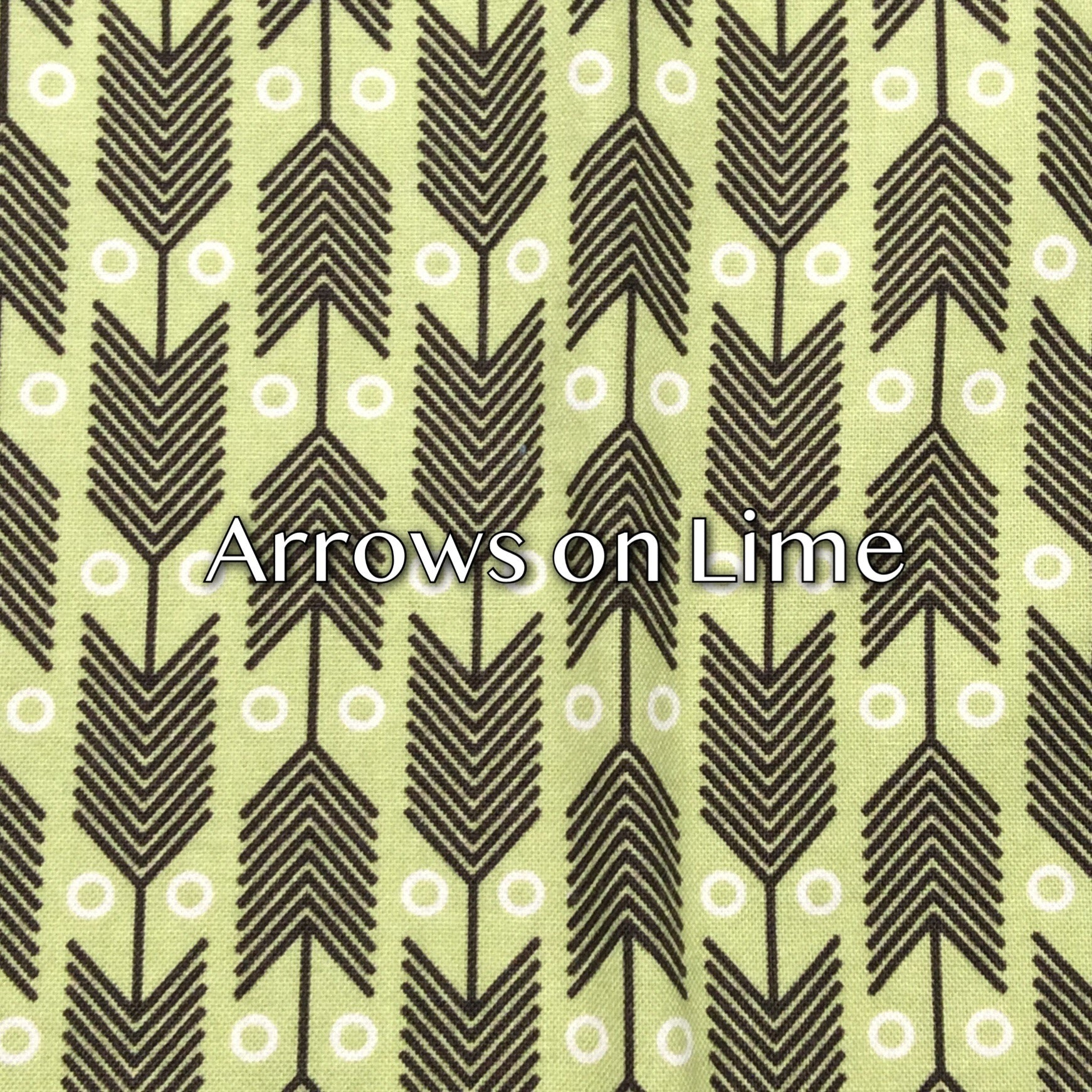 Arrows on Lime - Quilter's Cotton