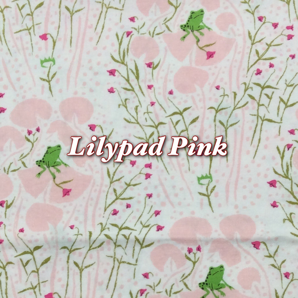 Limited Edition! Lilypad Pink - Quilter's Cotton - Featuring Ivory Premium Fleece Back & Ivory Flower Snap!