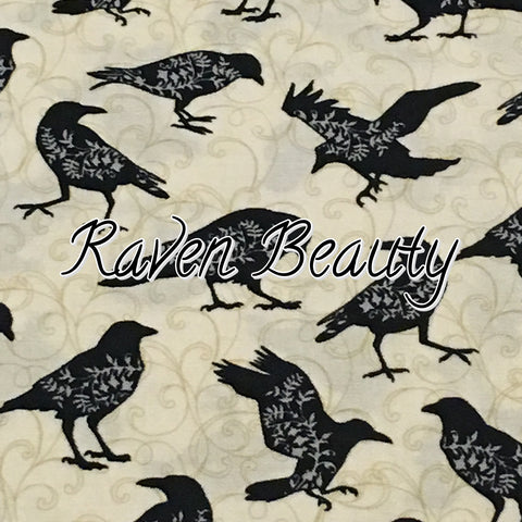 Custom Order - Raven Beauty - Quilter's Cotton