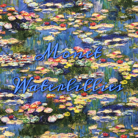 BRAND NEW! Custom Order - Monet Waterlillies - Quilter's Cotton
