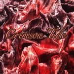 Luxury Crushed Velvet - Crimson Tide
