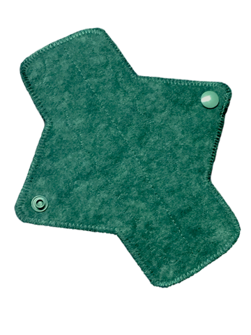 7 Inch Ultra Thin Suedecloth NINJA Pad (moderate-heavy) Absorbency in Verdant