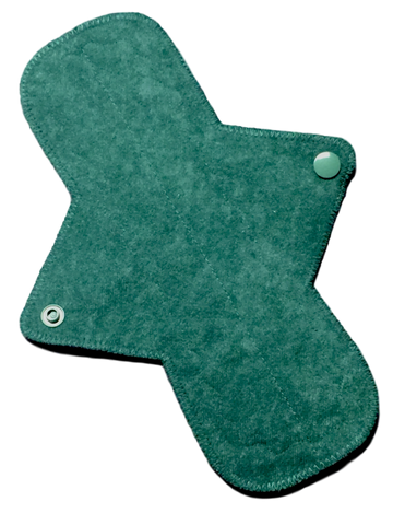 9 Inch Ultra Thin Suedecloth NINJA Pad (moderate-heavy) Absorbency in Verdant