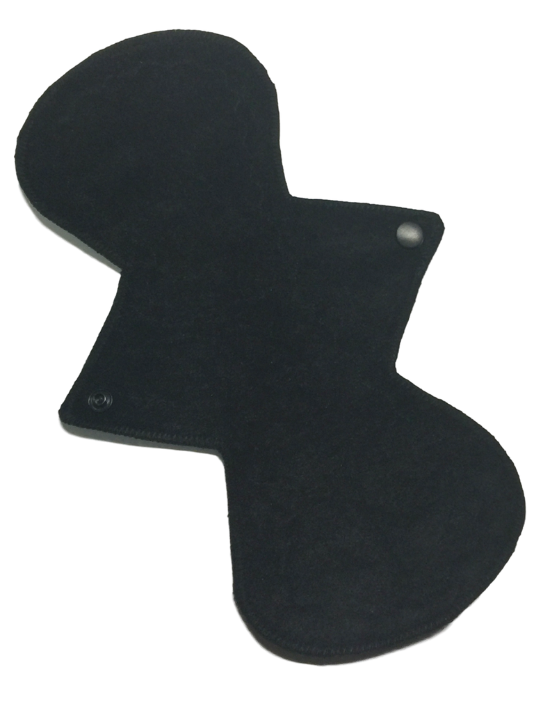 11 Inch Curve Ultra Thin Suedecloth  Waterproof NINJA Pad (moderate-heavy) Absorbency in Original NINJA Black
